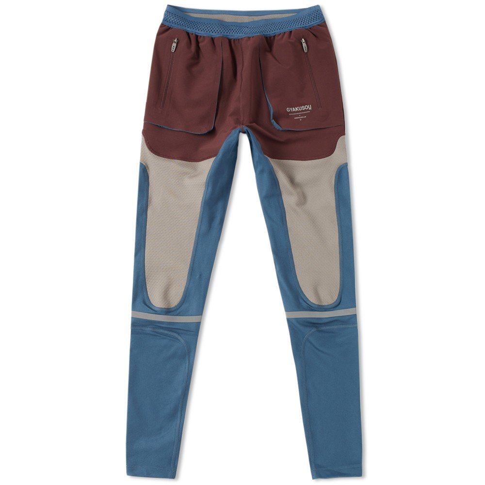 Nike X Undercover GYAKUSOU Utility Men's Tights (XL, Mahogany/Squadron Blue) by Nike (Image #1)