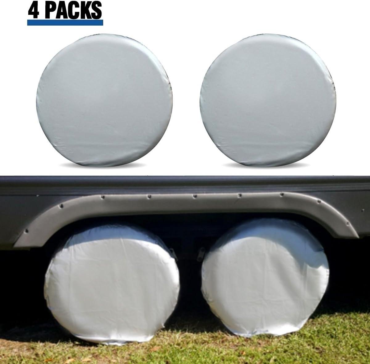 """33/"""" diameter 32 8 TIRE WHEEL COVERS Camper CAR TRAILER TRUCK RV 31"""