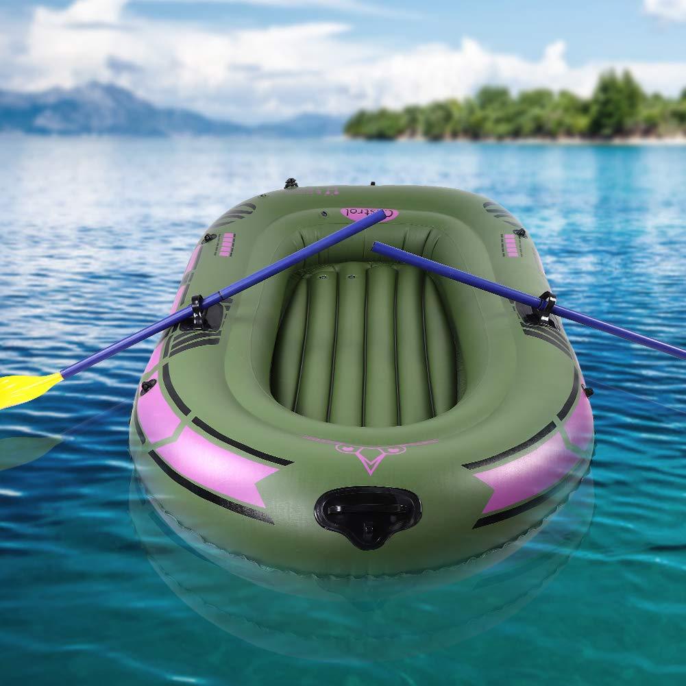 Alomejor Salto Inflable de la Deriva del Barco de remos del Bote de remos de la Canoa Inflable de 2 Personas