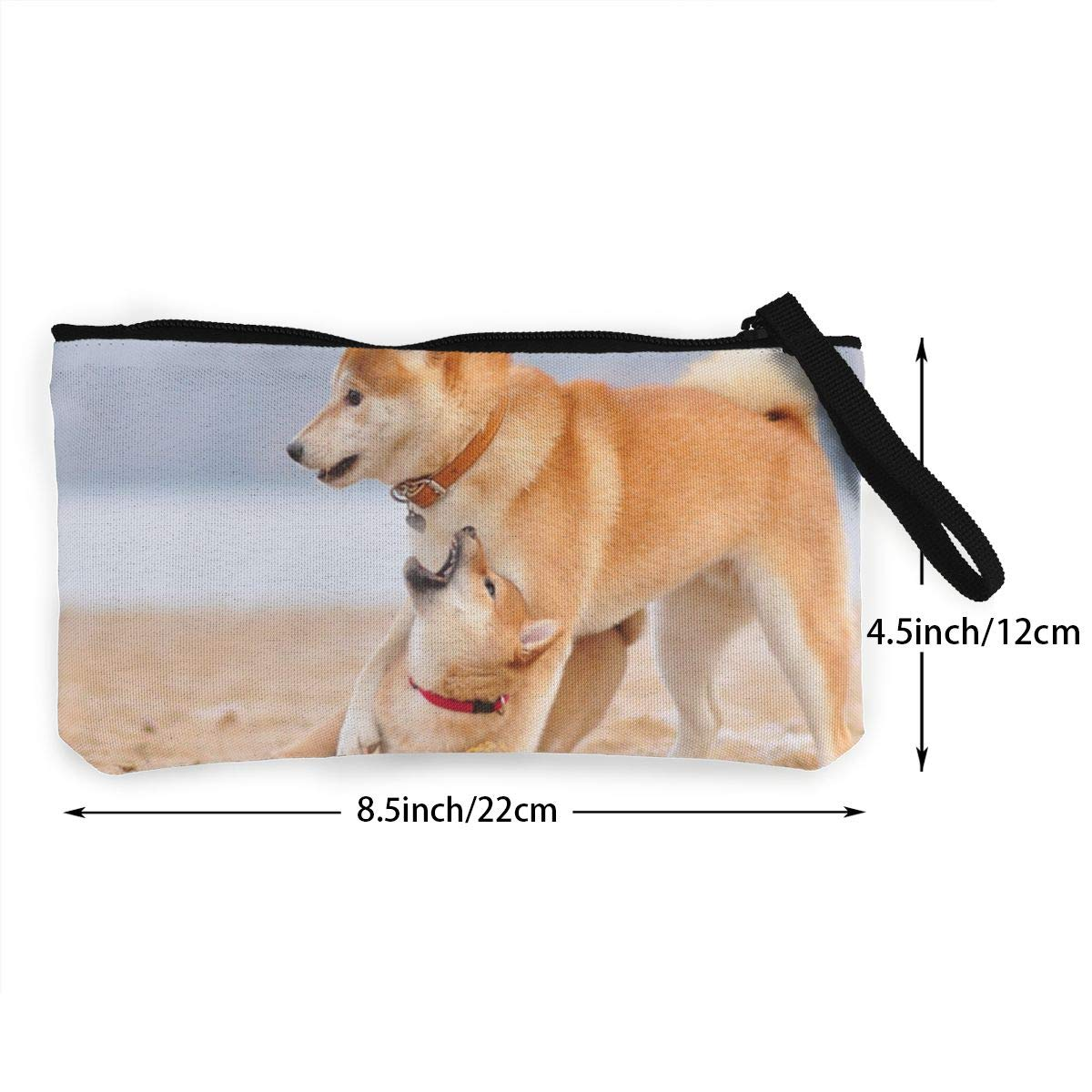Maple Memories Shiba Inu Dog Portable Canvas Coin Purse Change Purse Pouch Mini Wallet Gifts For Women Girls