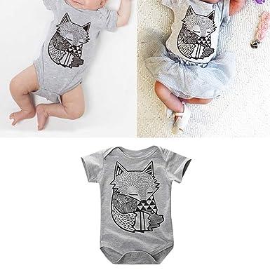 bc8ec05e0140 Amazon.com  dzsntsmgs Toddler Infant Newborn Baby Boys Girls Fox ...