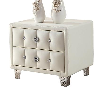 Amazon pm nightstands leather bedside table white bedside table pm nightstands leather bedside table white bedside table bedroom drawer cabinet watchthetrailerfo
