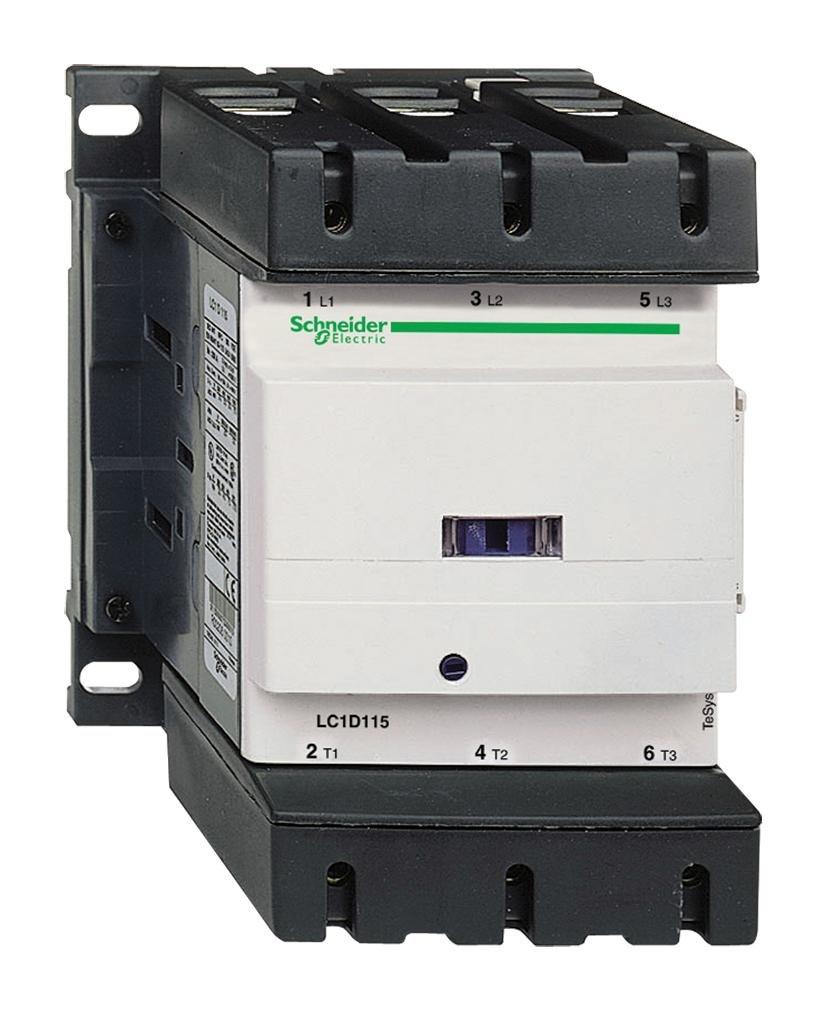 Lc1d115f7 New Schneider Ac Contactor Lc1 D115f7 3p 115a 110v Coil Under Current Relay Industrial Scientific