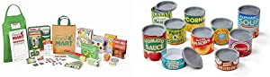 Melissa & Doug Grocery Store Companion Set & Let's Play House Grocery Cans
