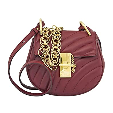 f8cbb7b4781 Chloe Mini Drew Bijou Quilted Leather Bag- Plum Purple: Handbags: Amazon.com