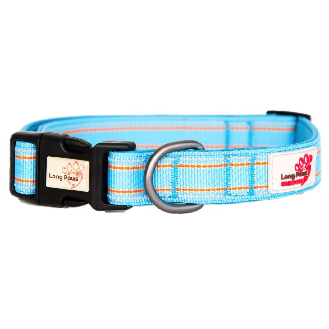 【Long Paws】小型犬/中型犬 / 大型犬 首輪 英国デザイナーズブランド (S, ピンク) B01C2J4HJQ ライトブルー S S|ライトブルー
