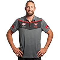 ISC Essendon Bombers 2017 AFL Dark Marle Media Polo Shirt
