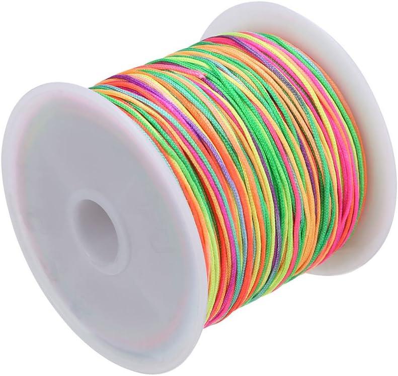 kitabetty Diy Hilo De Algod/ón Tejido A Mano,5 Acciones Macaron Rainbow Cotton Line,Lana Tejida A Mano De Algod/ón Arco Iris,Beatie Bufanda Bufanda Manta Secci/ón Te/ñida Lana