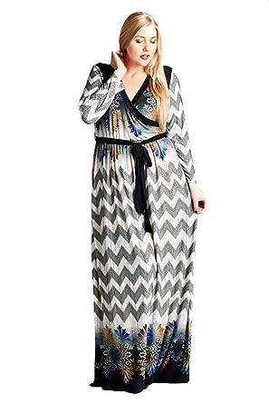 Plus Size Chevron Boho Hippie Womens Maxi Dress Made in The ...