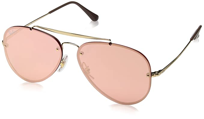 ray ban aviator rose gold mirror