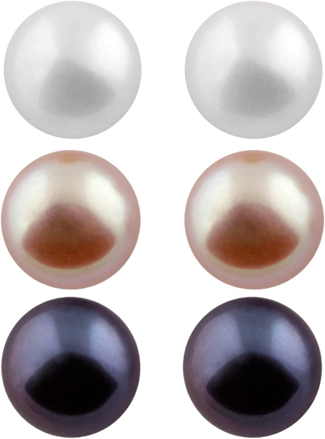 Natural Purple Pearl Necklace 2.5-3mm Freshwater Near Round Pearl Strand Cultured Pearl Beads for Earrings Bracelet ETFNS001-Pu