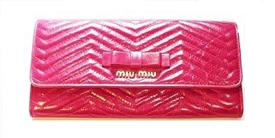 purchase cheap 8392c 49f3b Amazon | (ミュウミュウ) miumiu 長財布 ピンク レディース 新品 ...