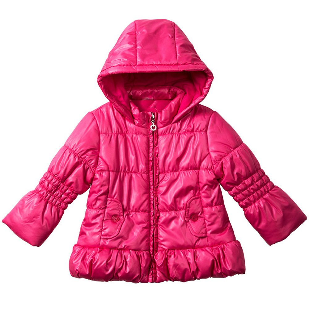 LJ Little Girls' Bubble Jacket with Hood