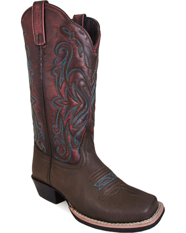 Smoky Mountain Women's Hi-Lo Fusion #2 Western Boot B01MS82X3N 6.5 B(M) US Brown