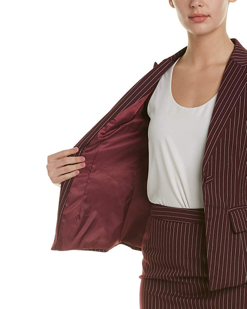 WITHYOU Womens 2Pc Jacket /& Skirt Set 4-6 Wine Red