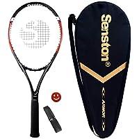 Senston Tennisracket 27 '' voor volwassenen aluminium tennisracket set met premium draagtas, inclusief 1 overgrip + 1…