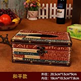 Zehui New Arrival European Vintage Tissue Box Waterproof Home Hotel Facial Tissue Holder Decoration With 5 Styles For Choice,All-American ,20.5x13x9cm
