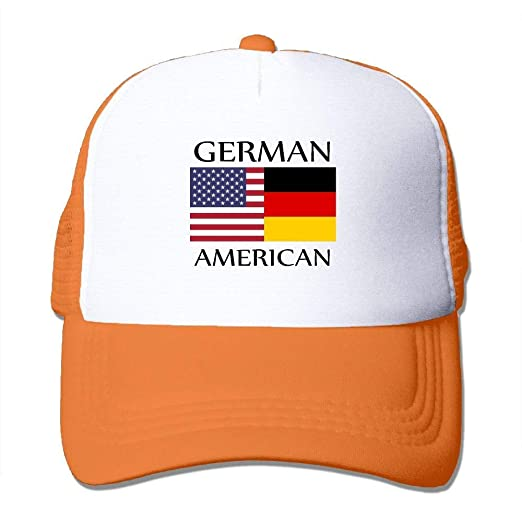 fb76853030e Image Unavailable. Image not available for. Color  German American Flag  Men s Women s Adjustable Snapback Hats ...