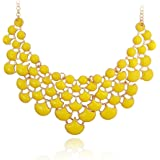 Jane Stone Fancy Statment Multi Color Funky Unique Special Bib Collar Necklace for Women Girls