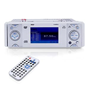 PYLE PLDMR3U In-Dash Marine CD/DVD Receiver with 3-Inch Built In Monitor