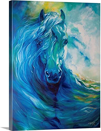 Blue Ghost Ocean Equine Canvas Wall Art Print