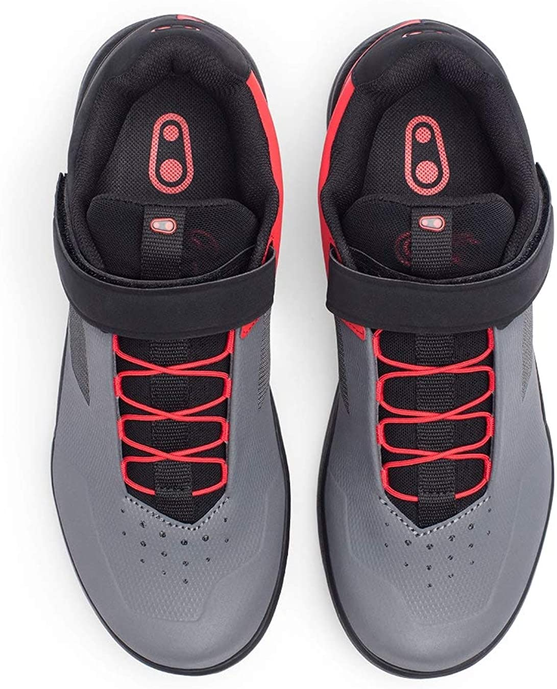 Crank Brothers Stamp Lace Men/'s Flat Shoe Black//Red//Black Size 12
