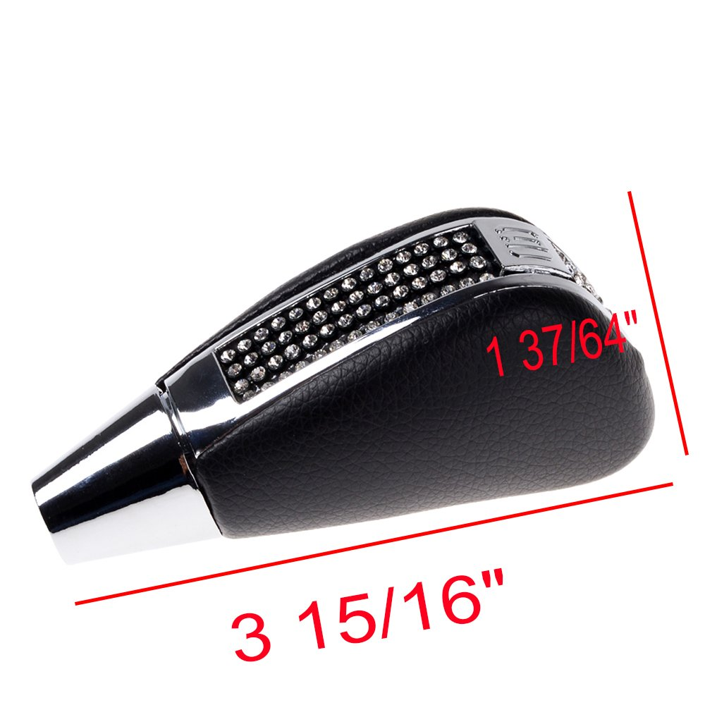 Astra Depot Bling Bling Crystal Rhinestone Manual Gear Shift Knob Manual Transmission Shifter Trigger