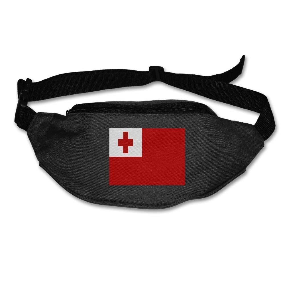 xjh558798 Tonga Flag Unisex Waist Packs Adjustable Outdoor Running ort Hiking