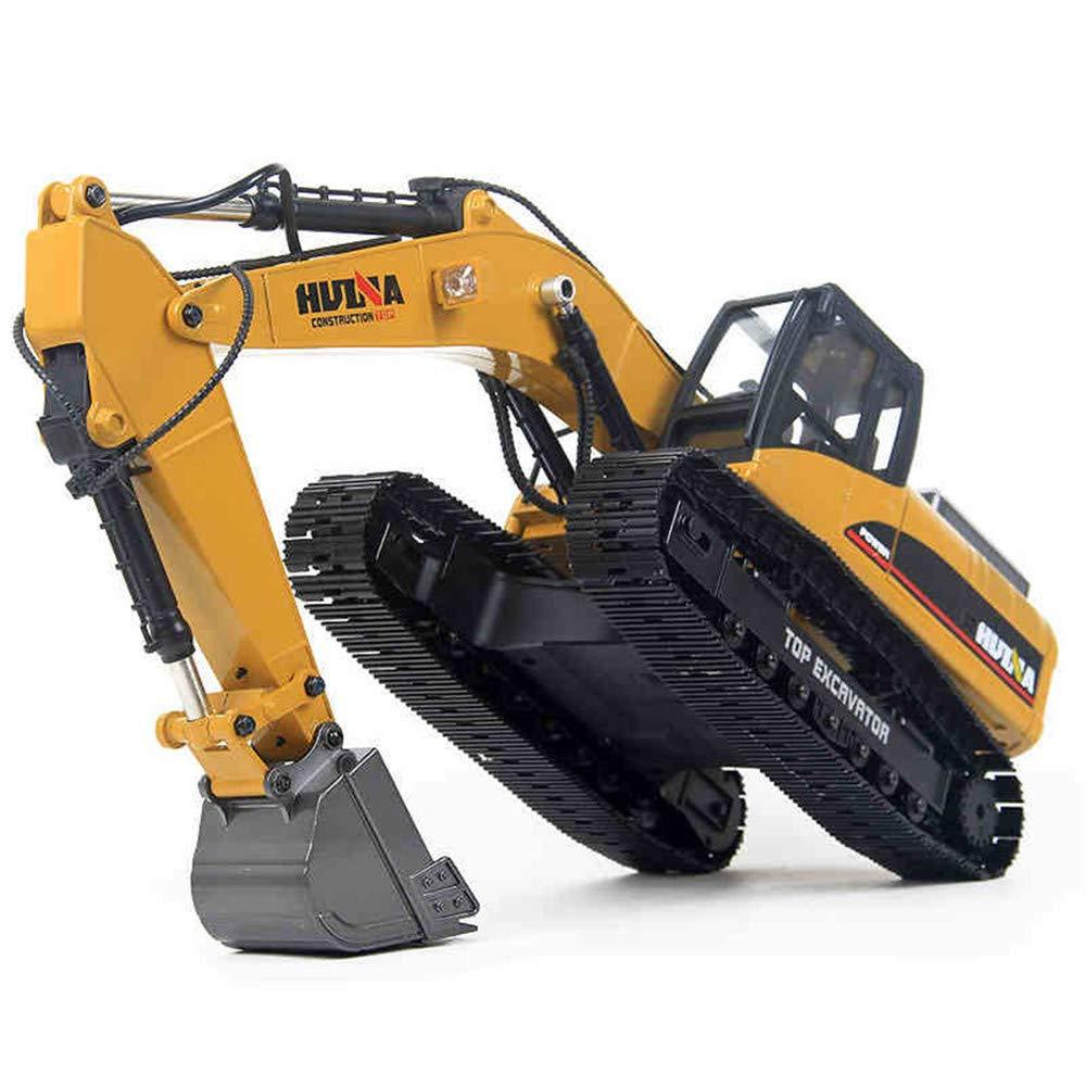 Rc掘削機1:14 23CH RCフルメタルエミュレーショントラック油圧車子供用おもちゃカースタイル大型オフロード建設リモートコントロールトラック自動車趣味 B07KW8WSNW