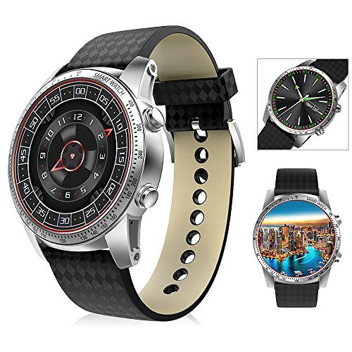 Android 5.1 WCDMA Smart Watch 3G Bluetooth 4.0 GPS Wifi Heart Rate Monitor Watch Compatible with IOS Android System