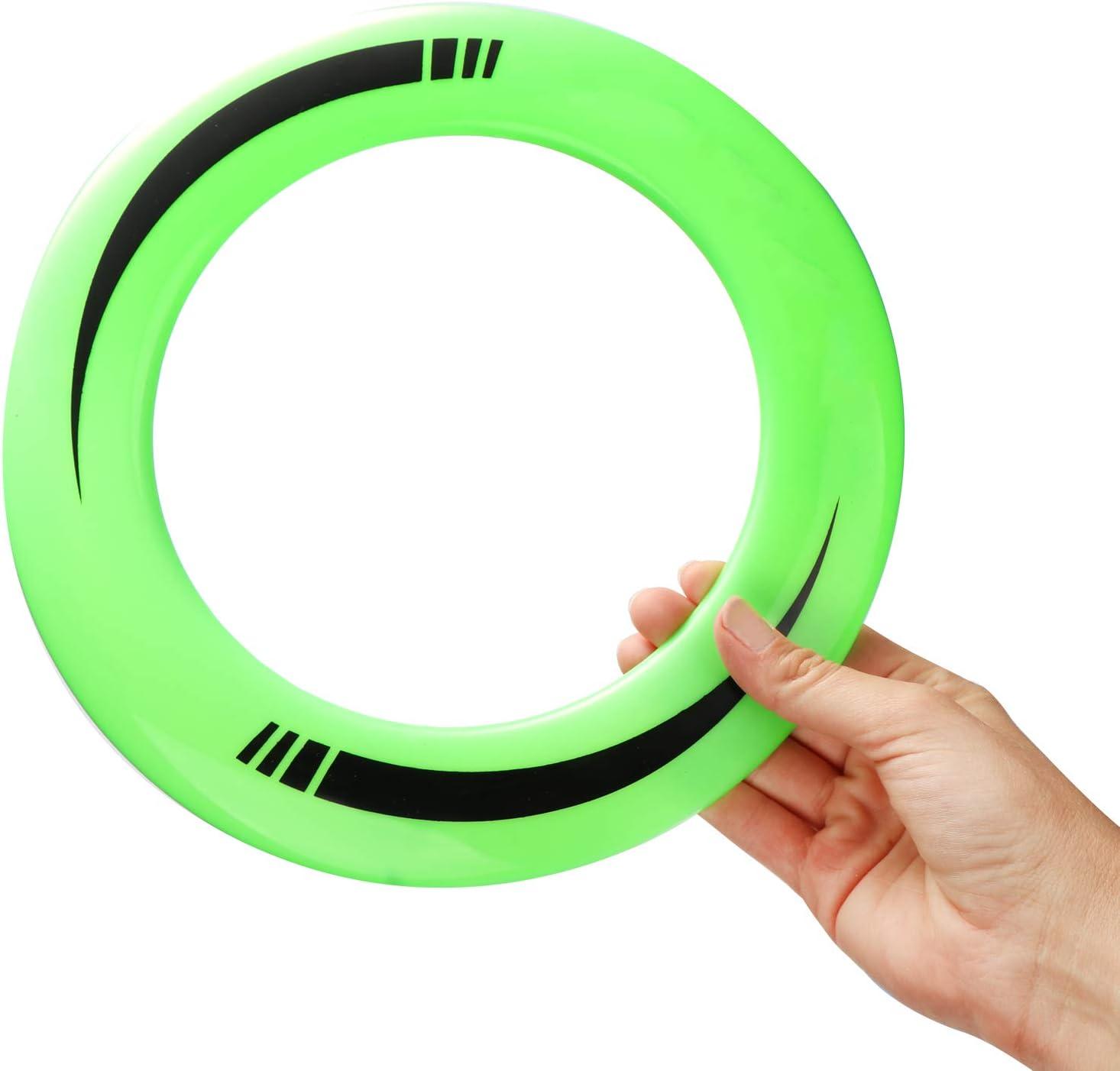 Bumer/án y Anillo de Lanzamiento Juguetes de Lanzamiento para ni/ños y Adultos 6 Partes - Colorido com-four/® Juego de 6 Piezas de bumer/án con Frisbee