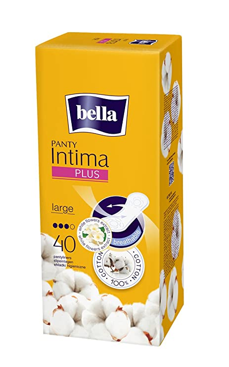 Bella Panty Intima Plus Panty Liners - 40 Count (Large) Panty Liners at amazon