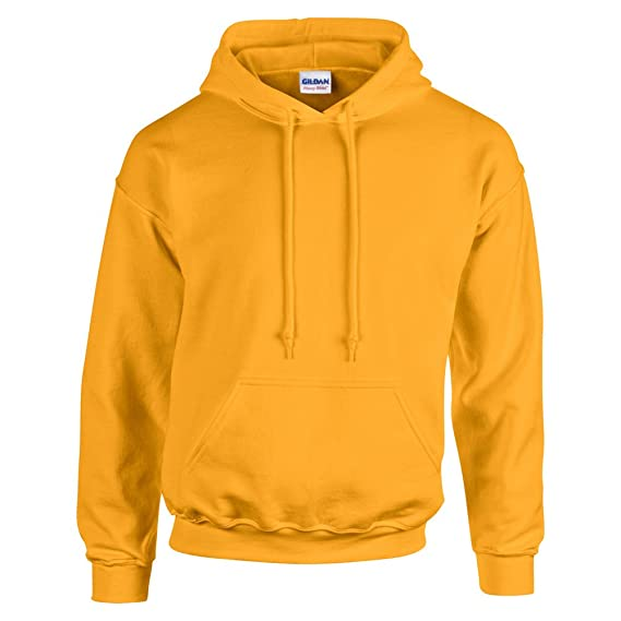 Gildan HeavyBlend, hooded sweatshirt Gold L at Amazon Mens Clothing store: