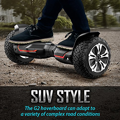 Gyroor Warrior 8.5 inch All Terrain Off Road Hoverboard with Bluetooth Speakers and LED Lights, UL2272 Certified Self Balancing Scooter 2018(Black) by Gyroor (Image #1)