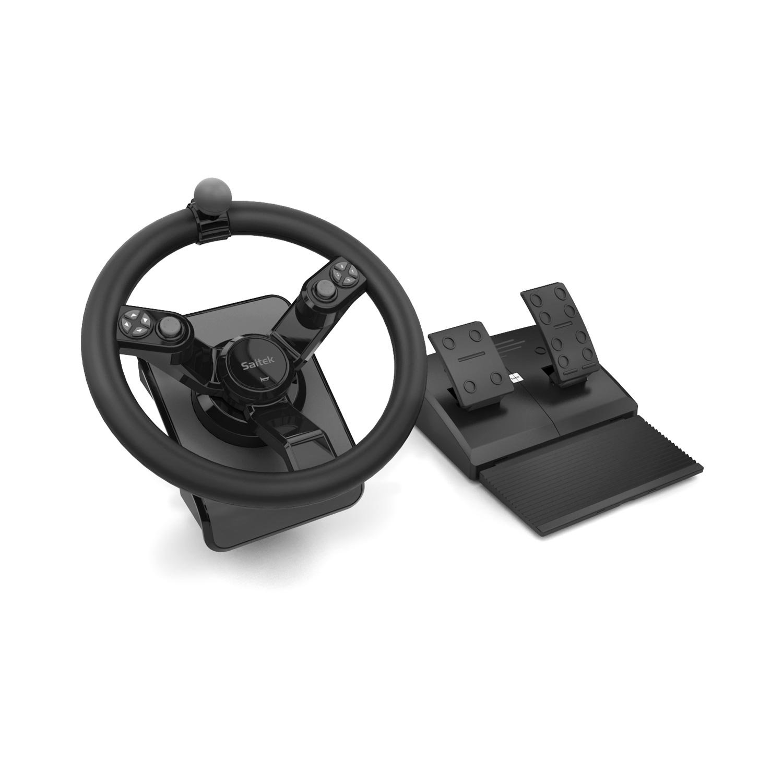 Mad Catz Saitek Farming Simulator Wheel, Pedals, and Vehicle Side Panel Bundle for PC and Mac(SCB432160002/01/1) Madcatz