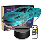Night Light 3D Toy Car 3D Lamp Optical Illusion Nightlight Bedside Lamp 7 Colors Changing LED Lamps with Remote Birthday Gifts for Girls Kids Baby Boys and Room Decor (Toy Car)