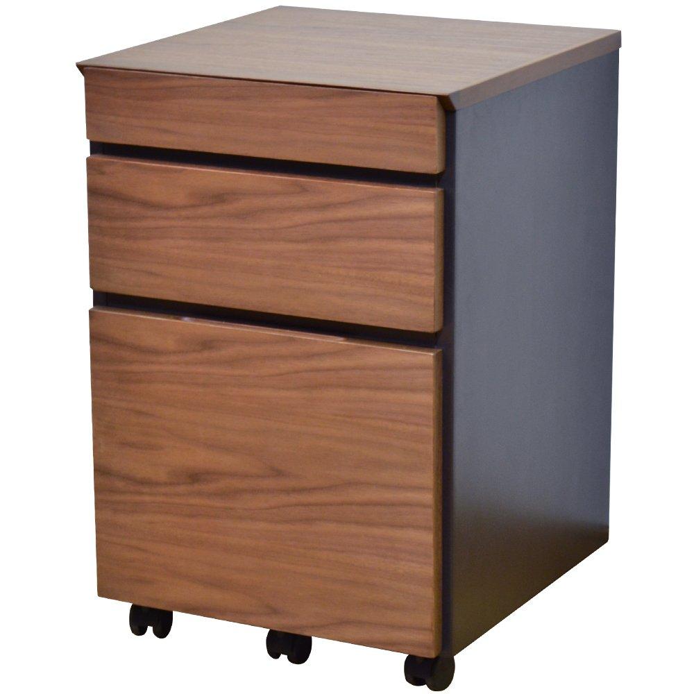 ライフスタイリングショップ 木製 パソコンデスク 薄型 幅90×奥行45cm ダークブラウン ブラック LS-782ABR B01I0YPGEW デスク 90×45