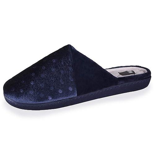 Isotoner - Zapatillas de Estar por Casa Mujer, Azul (Azul), 39 EU