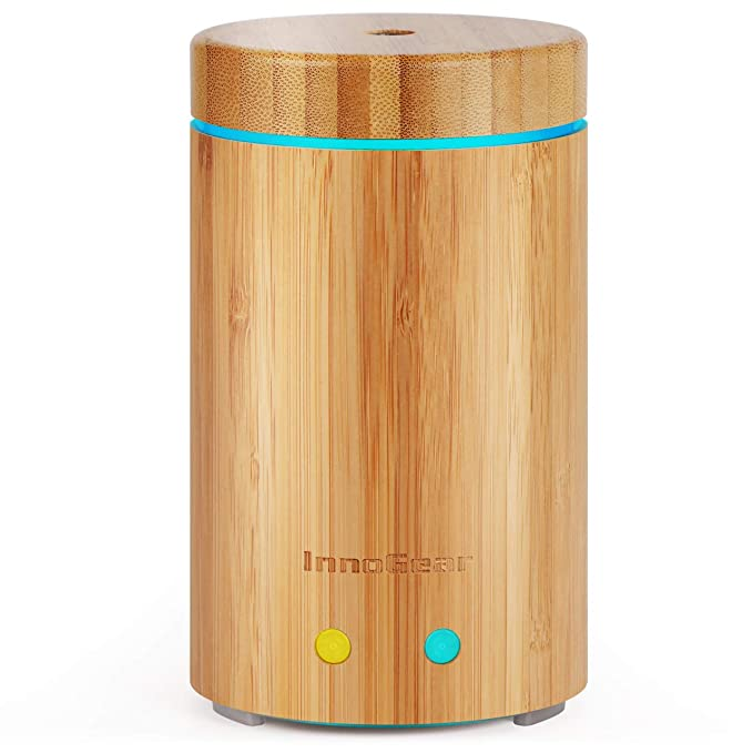 InnoGear Upgraded Real Bamboo Essential Oil Diffuser Ultrasonic Aroma Aromatherapy Diffusers Cool Mist Humidifier