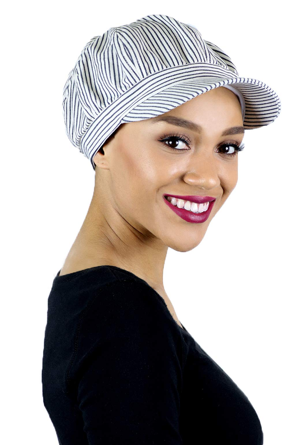 Newsboy Cap for Women Cabbie Summer Hats Ladies Large Heads Chemo Headwear Head Coverings Bristol