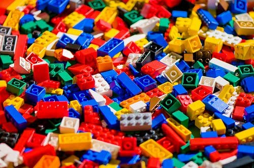 500 Random Lego Pieces Washed Sanitized and Sorted from big lots