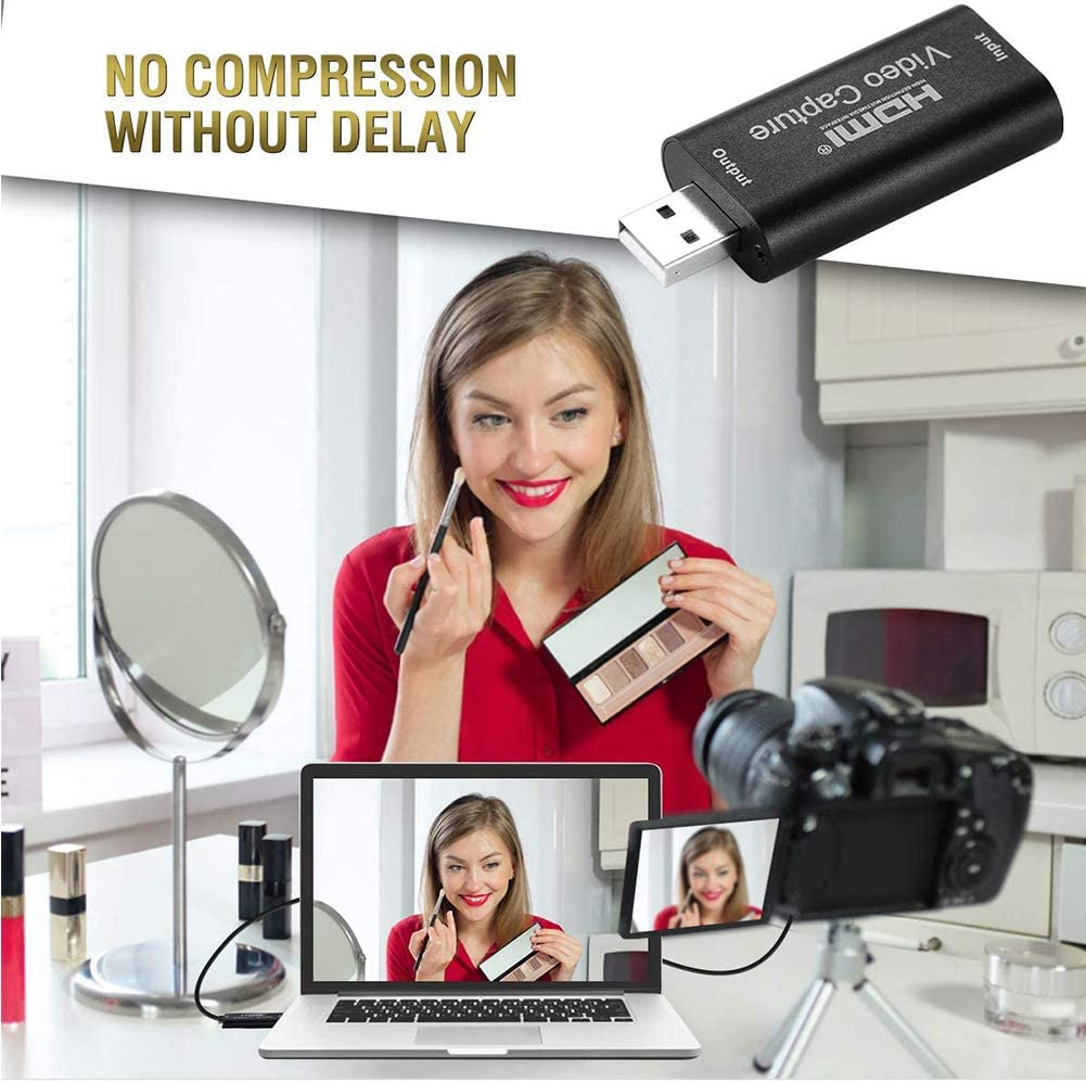 Live Broadcasting WONDERFUL FATE Audio Video Capture Cards HDMI to USB 1080p USB2.0 Record via DSLR Camcorder Action Cam