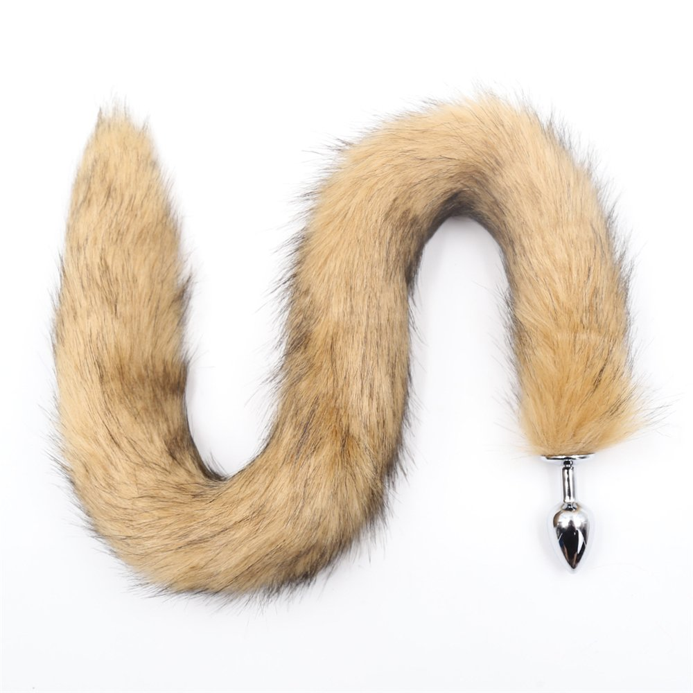 941876776f4 Amazon.com  Fox Tail Plug Butt Tail Plug Sex Toy Lengthen Stainless Costume  Pet Play Anal Tail Kitty Wolf Tail Mature Sex Cosplay Anime Cute Animal  Furry ...