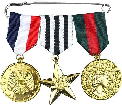 I LOVE FANCY DRESS LTD MEDALLAS Militares Dorados Accesorios TEMATICOS: Amazon.es: Juguetes y juegos