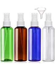 Zerstäuber leere Reisen sprühflasche nachfüllbar Durchsichtig parfümzerstäuber behälter, 4 Stück (100ml, 4 Farbe)