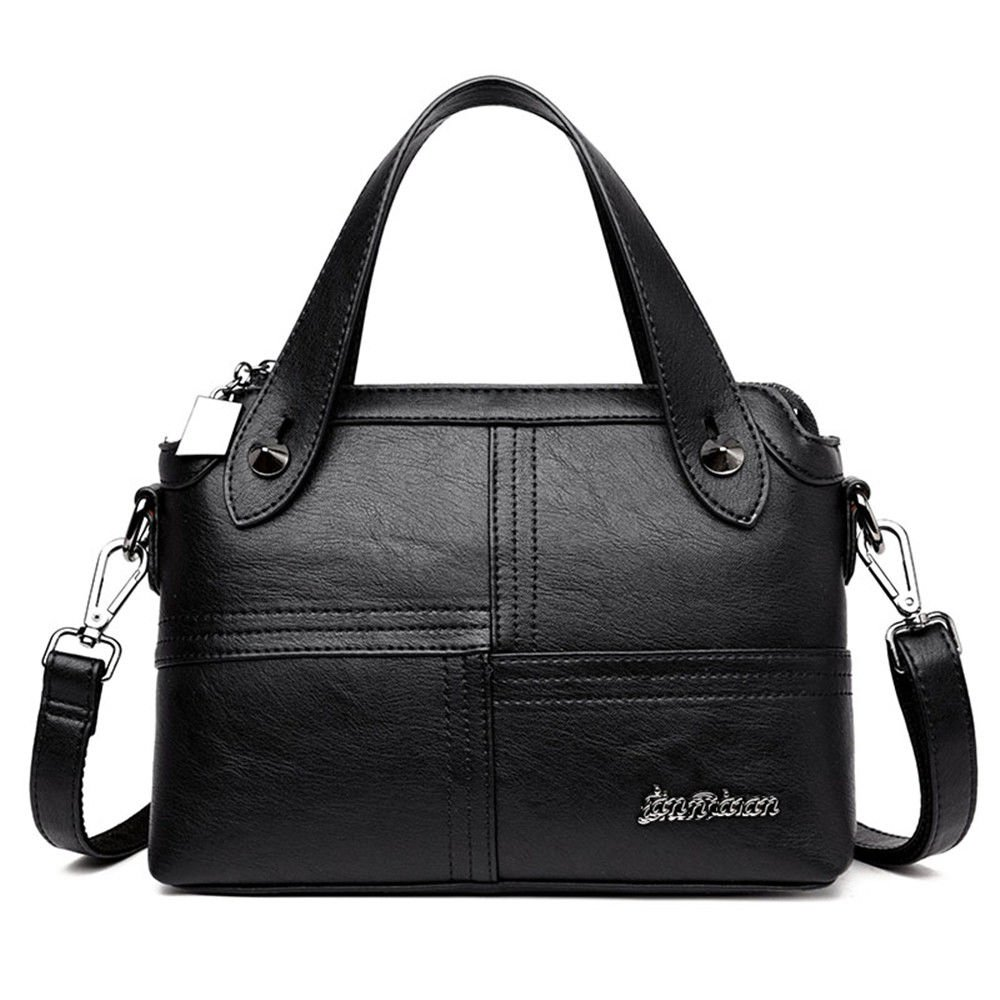 SJMMBB Fashion Shoulder Bag Handbag, Lady Bag,Black,20X28X10Cm