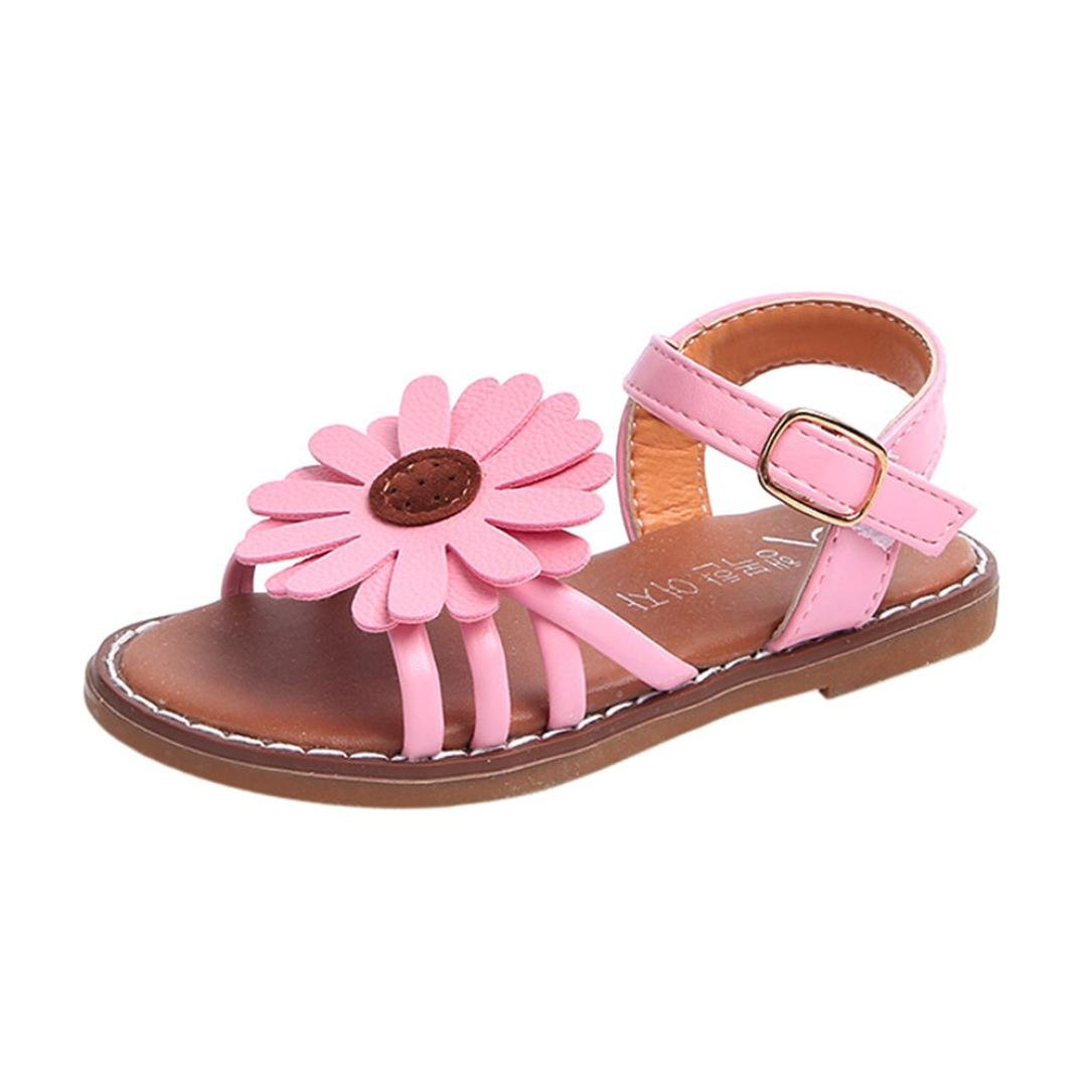 FEITONG Toddler Kids Baby Girls Sandals Flower Roman Sandals Princess Beach Shoes by FEITONG (Image #1)