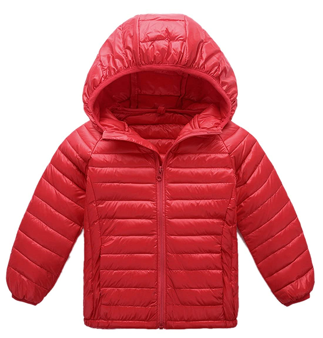 Roffatide Unisex Children Lightweight Down Coat Warm Puffer Jacket Windproof Outwear