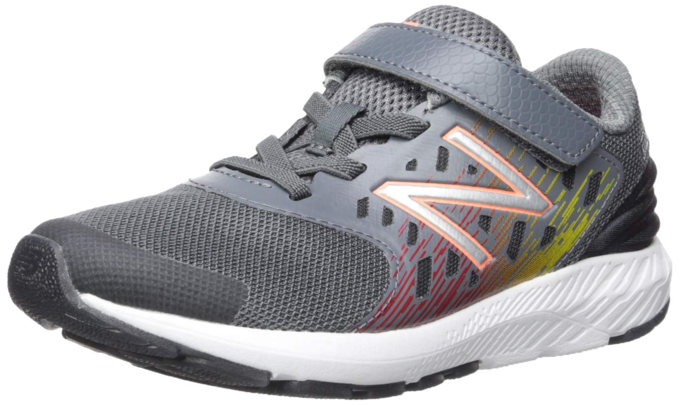 New Balance Boys' Urge V2 FuelCore Running Shoe, Lead/Team red, 8 XW US Toddler by New Balance