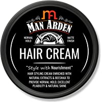 Man Arden Hair Cream - Styling with Normal Hold & Matte Finish - 50gm - Nourishing Hair Cream for Men